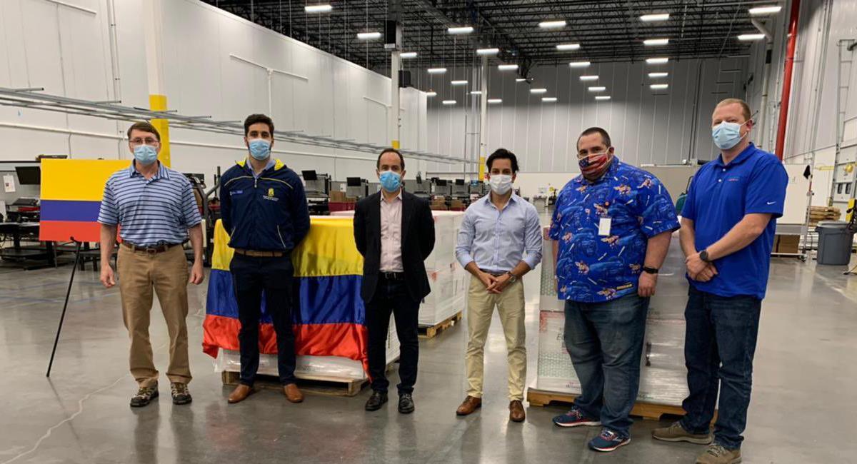3,5 millones de dosis de la vacuna de Moderna llegarán a Colombia como donación del gobierno de EE.UU. Foto: Twitter @MinSaludCol