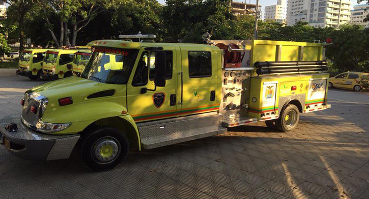 Las máquinas de bomberos no deben pagar peaje de acuerdo con el artículo 31 de la ley 1575 de 2012. Foto: Twitter @JCGossain