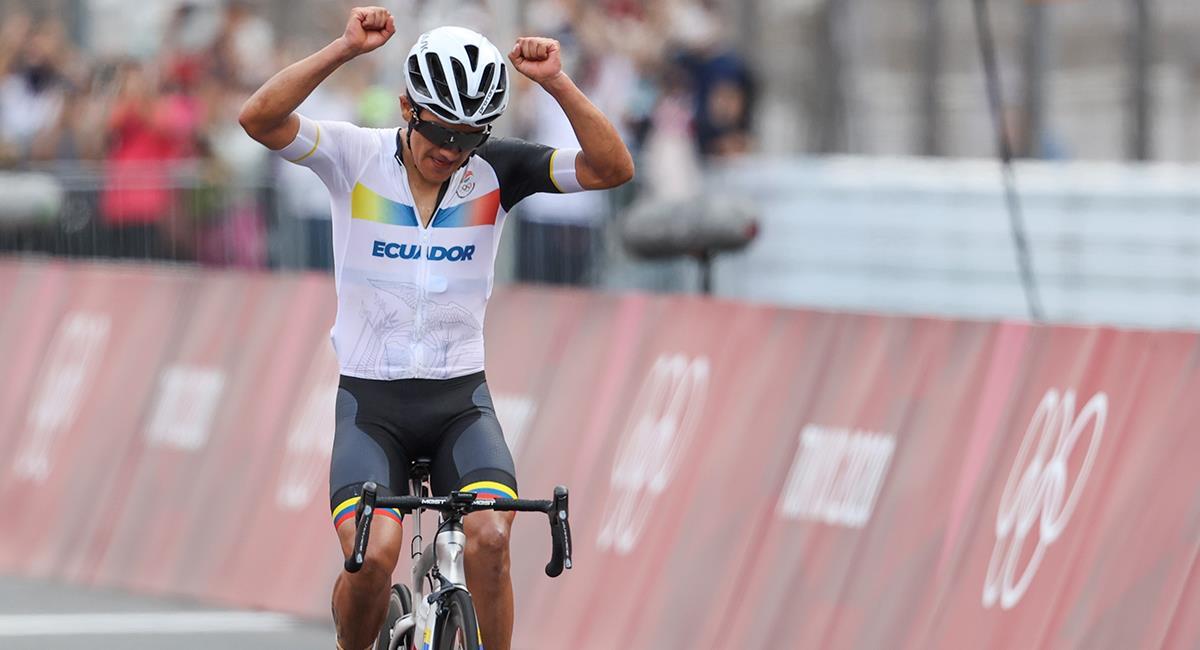 Richard Carapaz campeón Tokio 2020. Foto: EFE