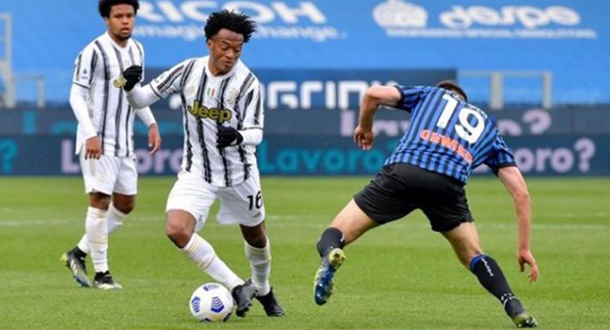 Juan Guillermo Cuadrado con la camiseta de la Juventus ante el Inter de Milán. Foto: Instagram Juan Guillermo Cuadrado