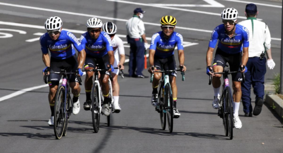 Sigue en vivo y gratis la prueba de ruta de los Juegos Olímpicos. Foto: Twitter Prensa redes Comité Olímpico Colombiano.