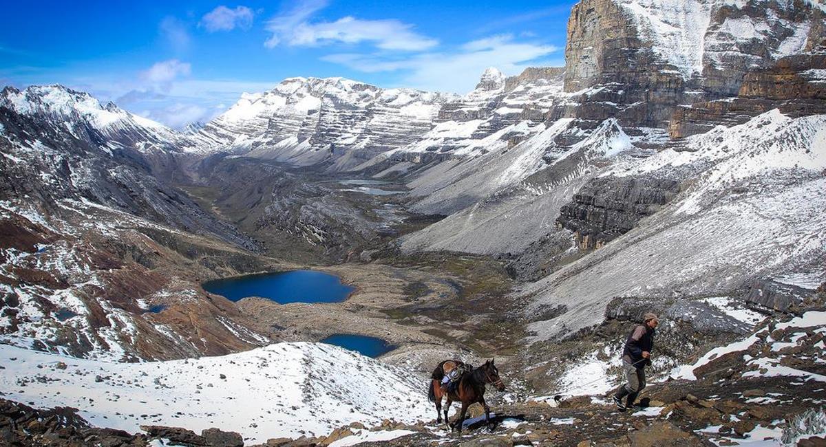 El Parque Nacional Natural El Cocuy ha padecido el deshielo de sus cumbres a causa del cambio climático. Foto: Facebook Colombia Hermosa