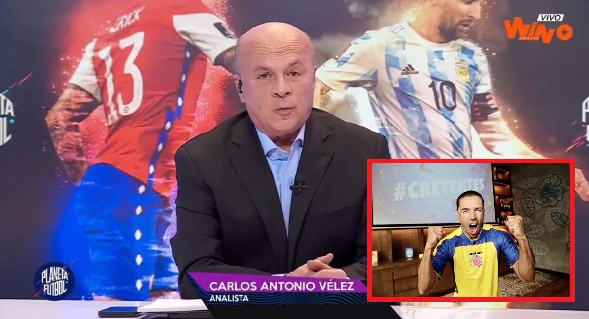 Carlos Antonio le respondió a Iván Córdoba. Foto: Twitter Captura pantalla Win Sports.