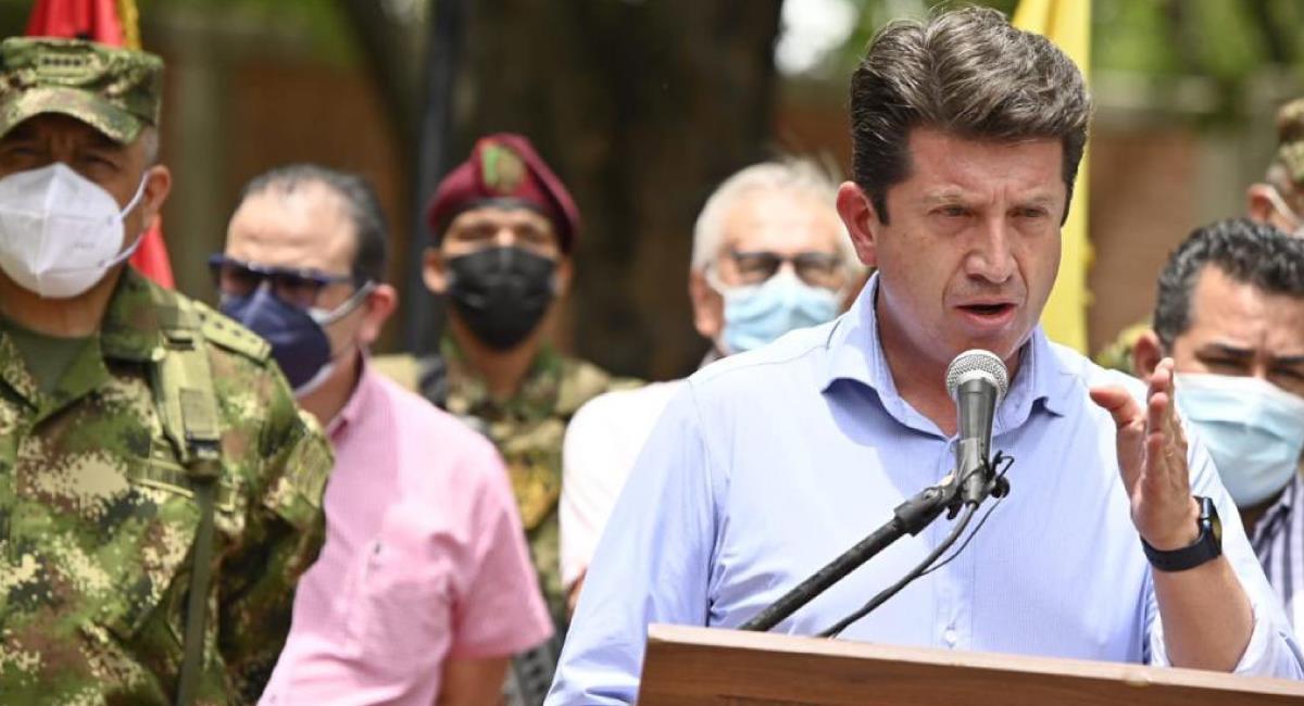 Ministro de Defensa anuncia avances en las investigaciones sobre los atentados de disidencias Farc. Foto: Twitter