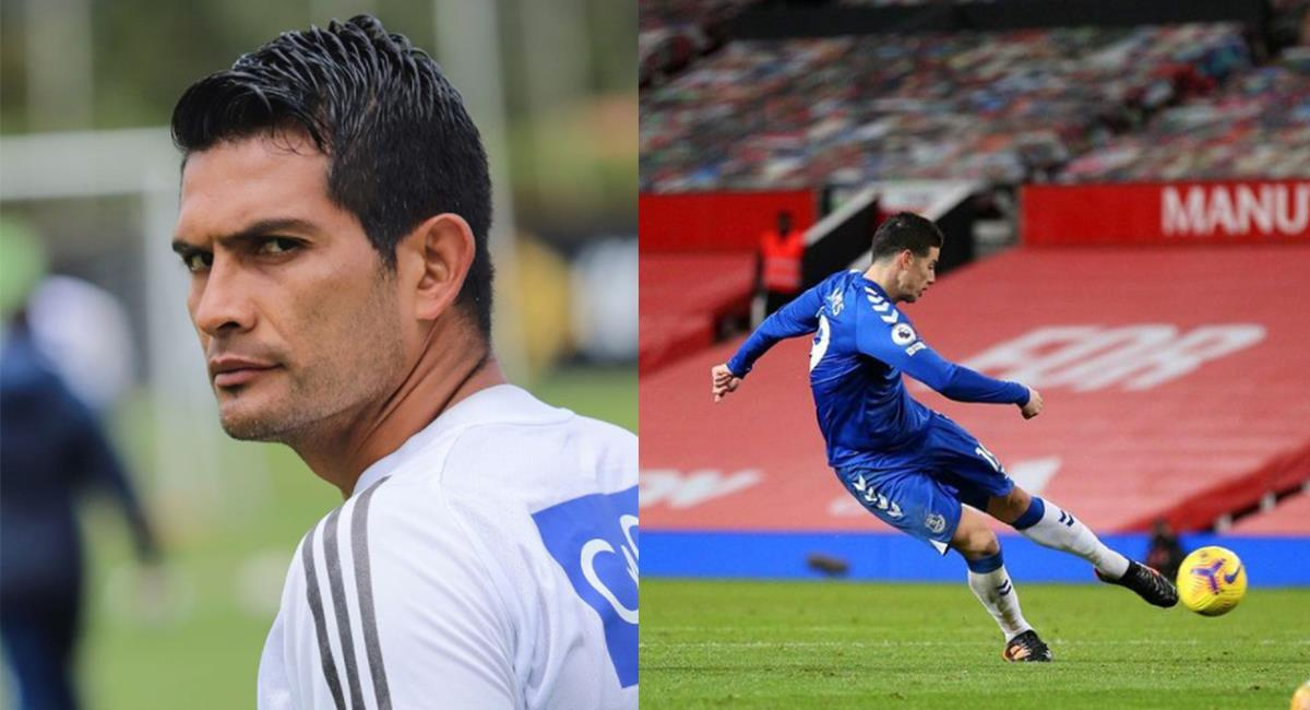 David Macalister Silva Millonarios /James Rodríguez Everton. Foto: Instagram Redes Millos - Redes James Rodriguez