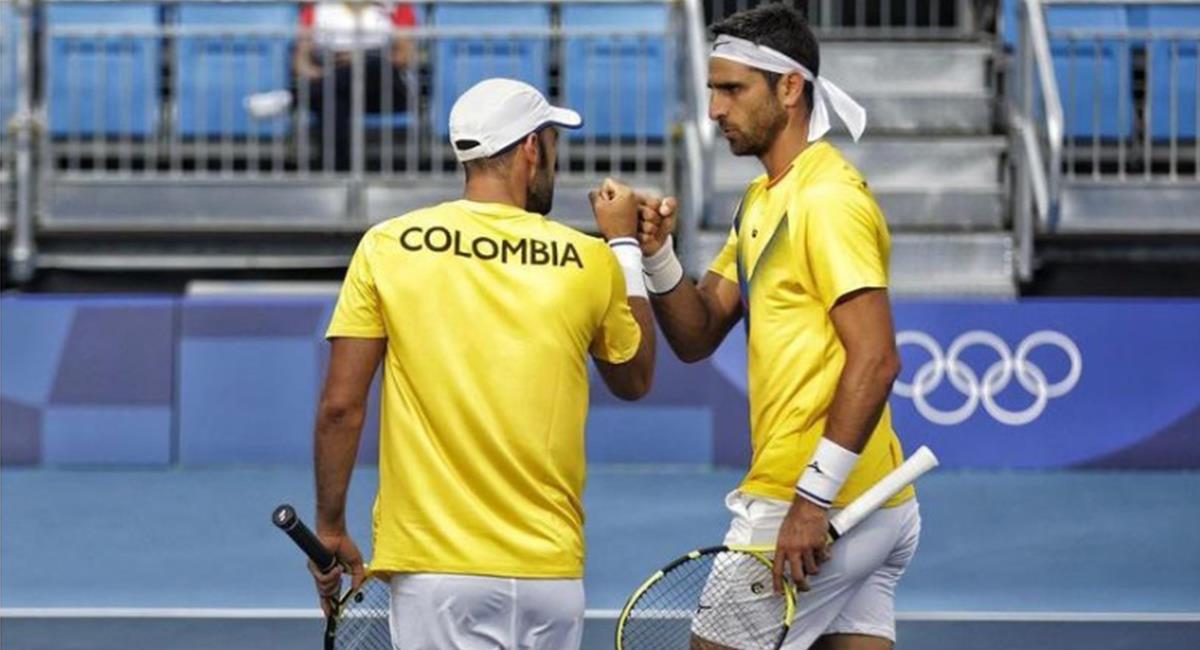 Victoria de Juan Sebastián Cabal y Robert Farah en Tokio 2020. Foto: Instagram Redes Comité Olímpico Colombiano