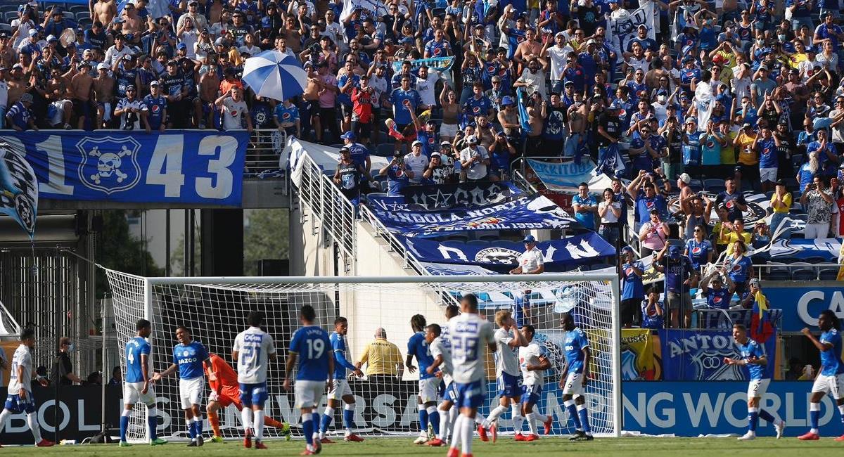 Everton vs Millonarios. Foto: Twitter Florida Cup
