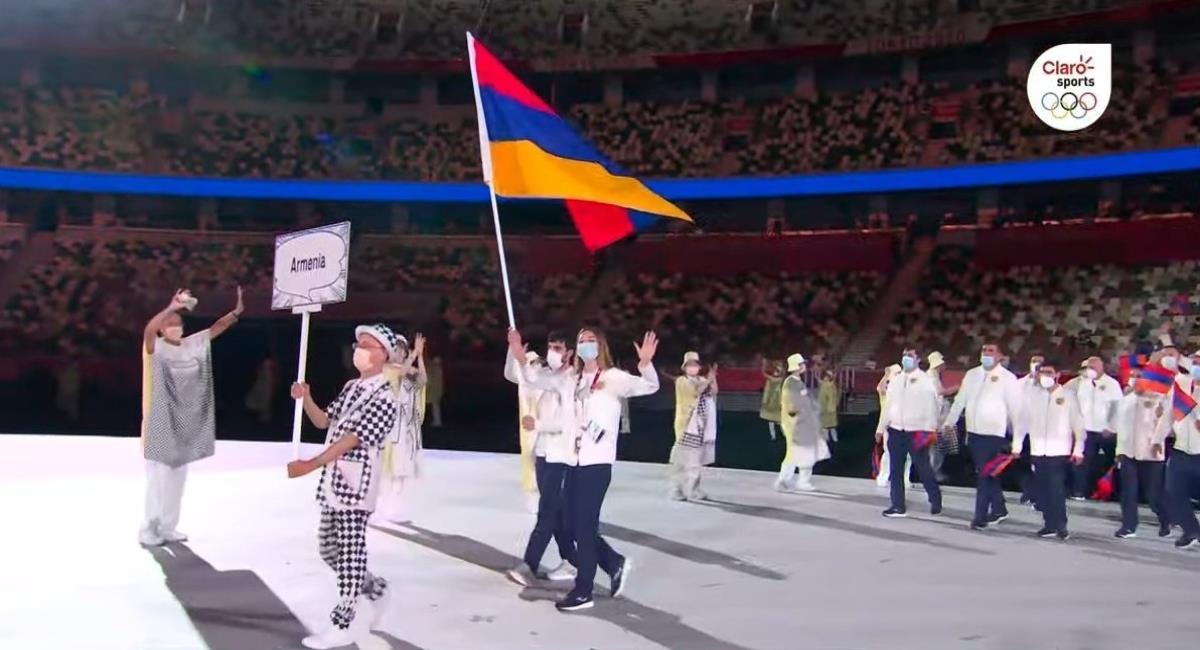 Delegación de Armenia en los Juegos Olímpicos. Foto: Twitter Captura pantalla Claro Sports.