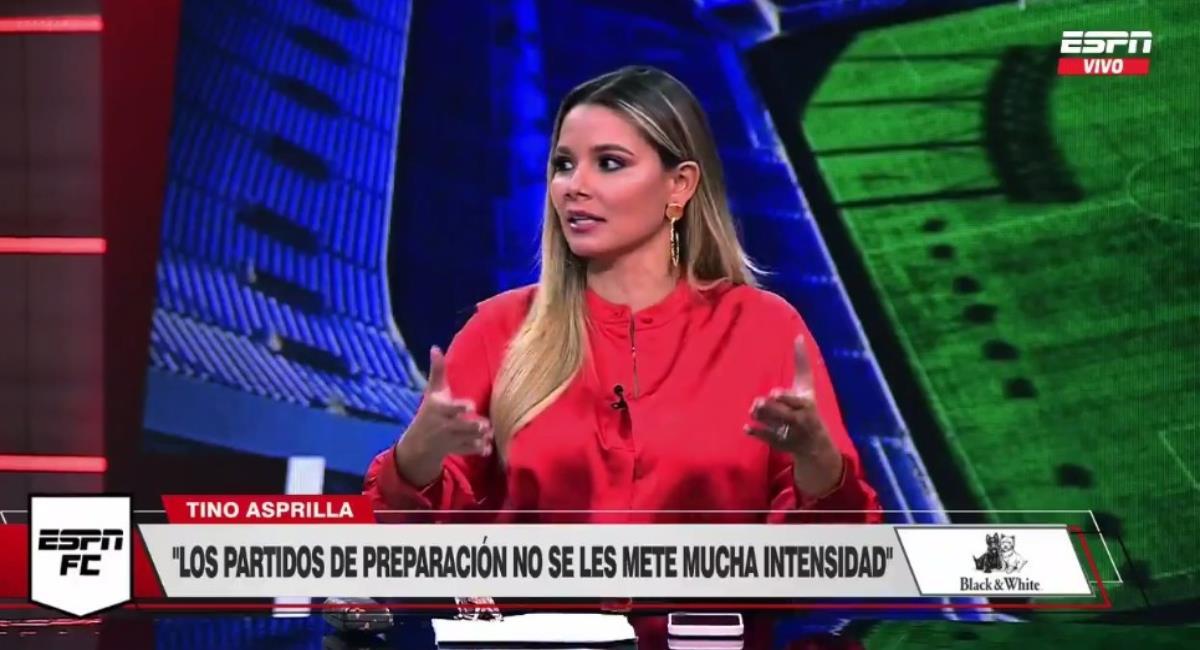 Críticas de hinchas de Millonarios a Melissa Martínez. Foto: Twitter captura pantalla ESPN.
