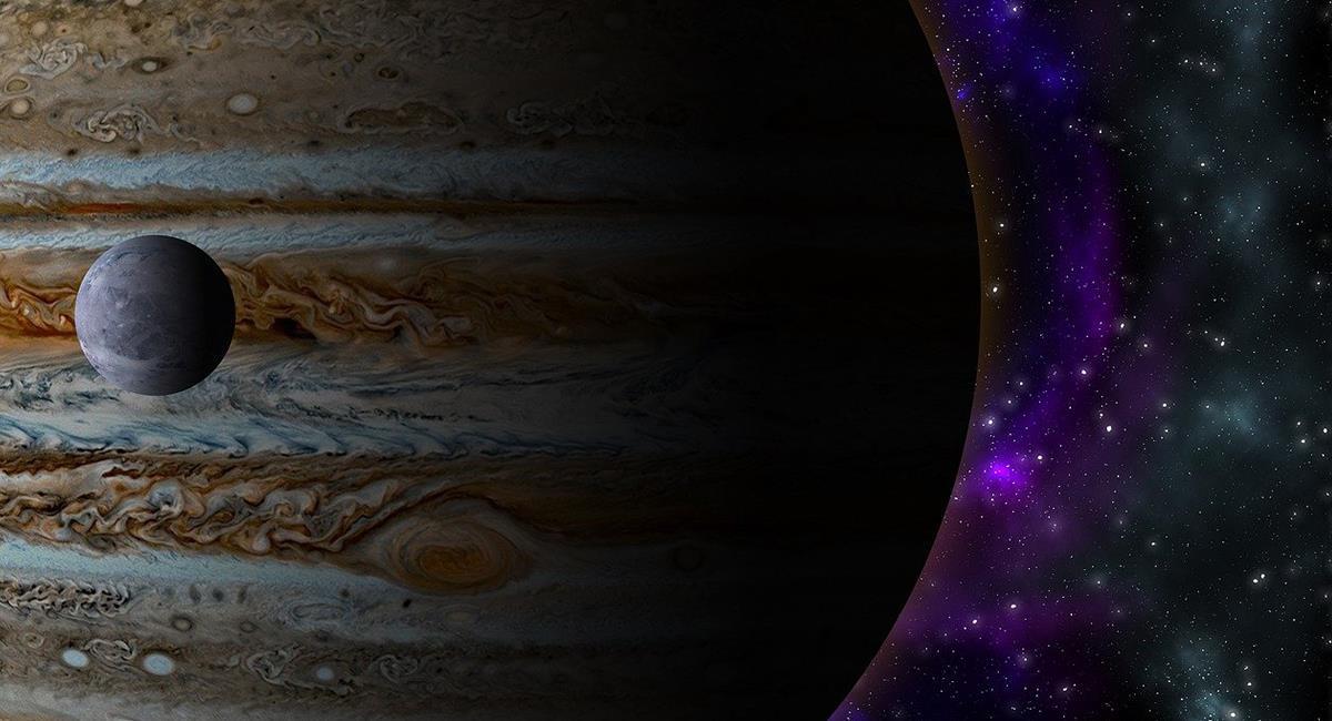 Ganímedes, es la Luna más grande de Júpiter. Ahora se le ve vapor de agua. Foto: Pixabay