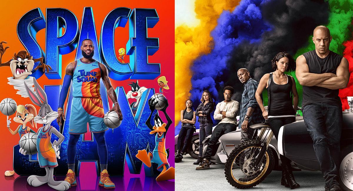 """""""Space Jam: A New Legacy"""" y """"F9"""" son dos de las cintas más taquilleras del 2021. Foto: Twitter @spacejammovie y @TheFastSaga"""