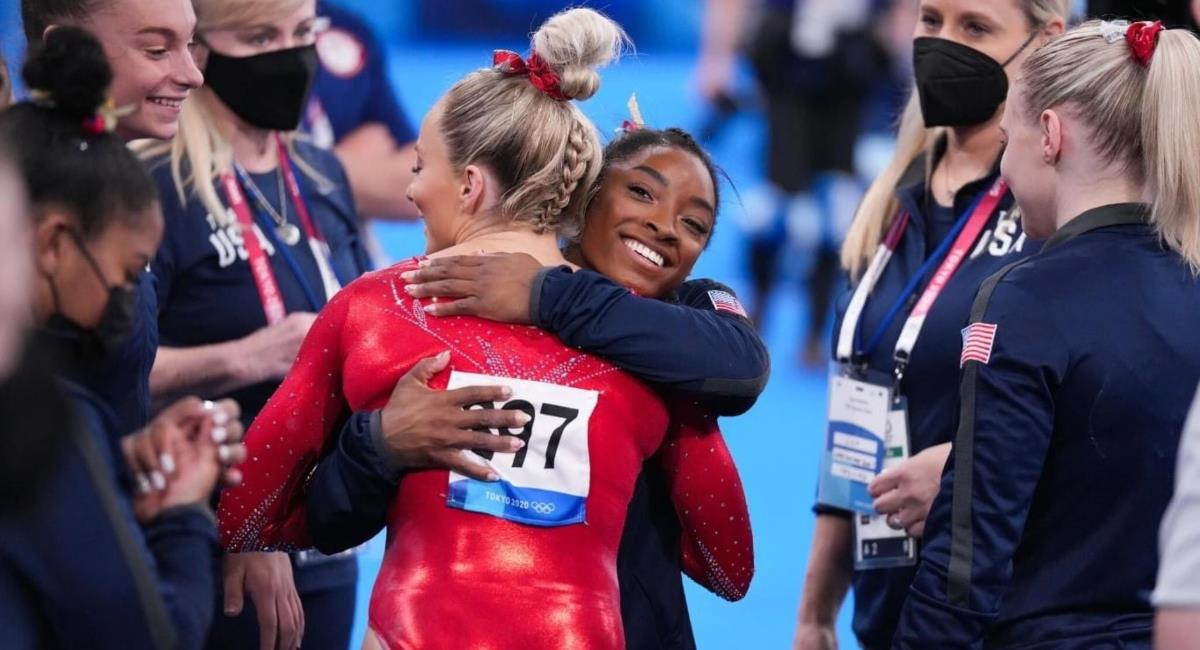 Simone Biles se retira de los Juegos Olímpicos. Foto: Twitter Prensa redes Simone Biles.