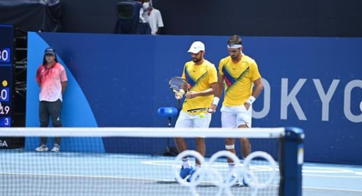 Derrota de los colombianos Cabal y Farah en Tokio 2020. Foto: Instagram Redes Comité Olímpico Colombiano