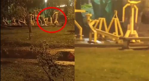 [VIDEO] Captan supuesto fantasma en Parque Alfonso López de Medellín