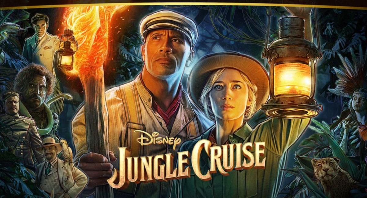 """""""Jungle Cruise"""" es protagonizada por Dwayne Johnson y Emily Blunt. Foto: Twitter @disneyplus"""