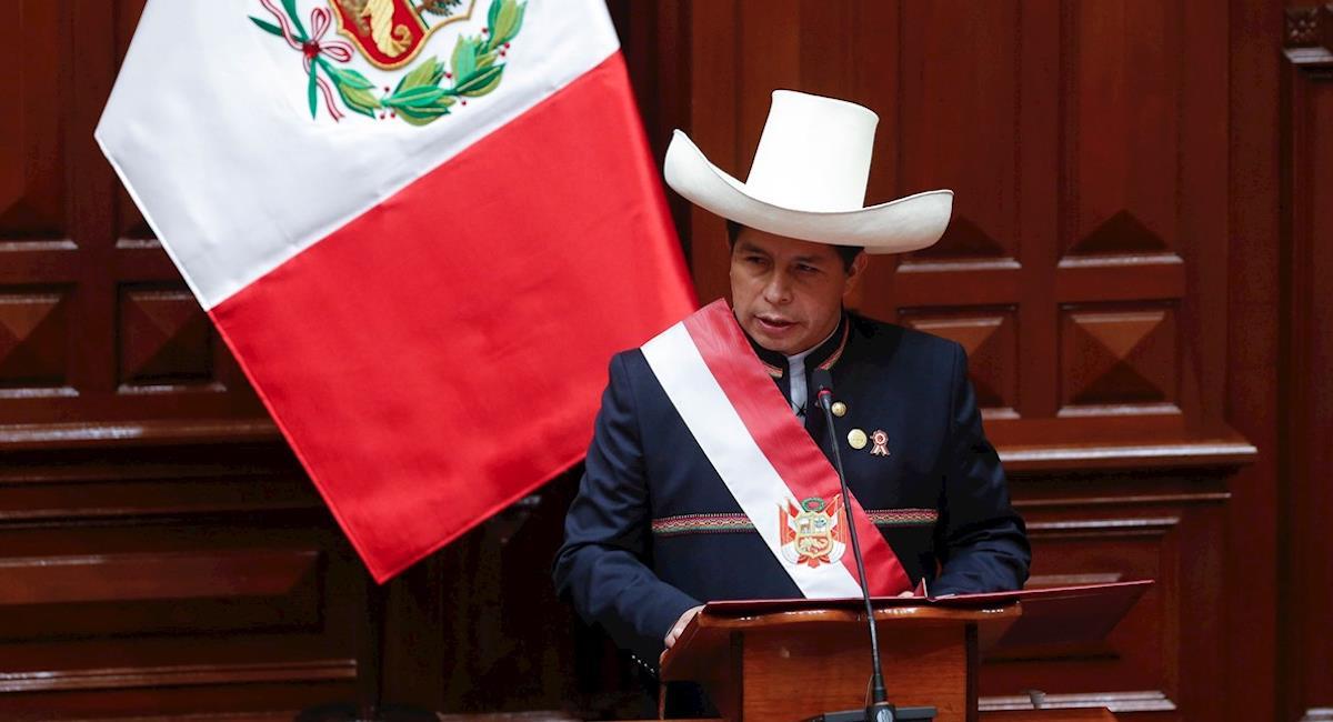 Posesión Pedro Castillo presidencia Perú. Foto: EFE