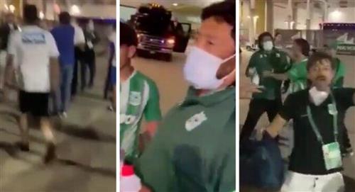 Denuncian hinchas de Millonarios agrediendo a René Higuita video Atlético Nacional Florida Cup