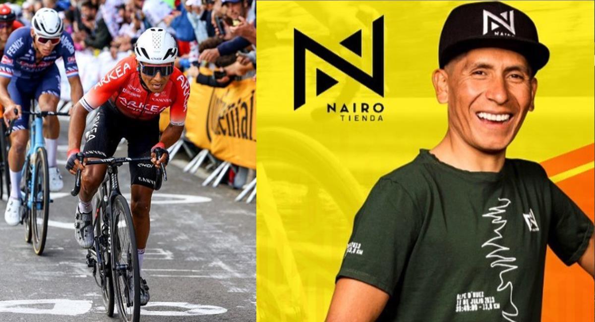Nairo Quintana y su nueva marca Nairo. Foto: Instagram Nairo Quintana / Tienda de Nairo