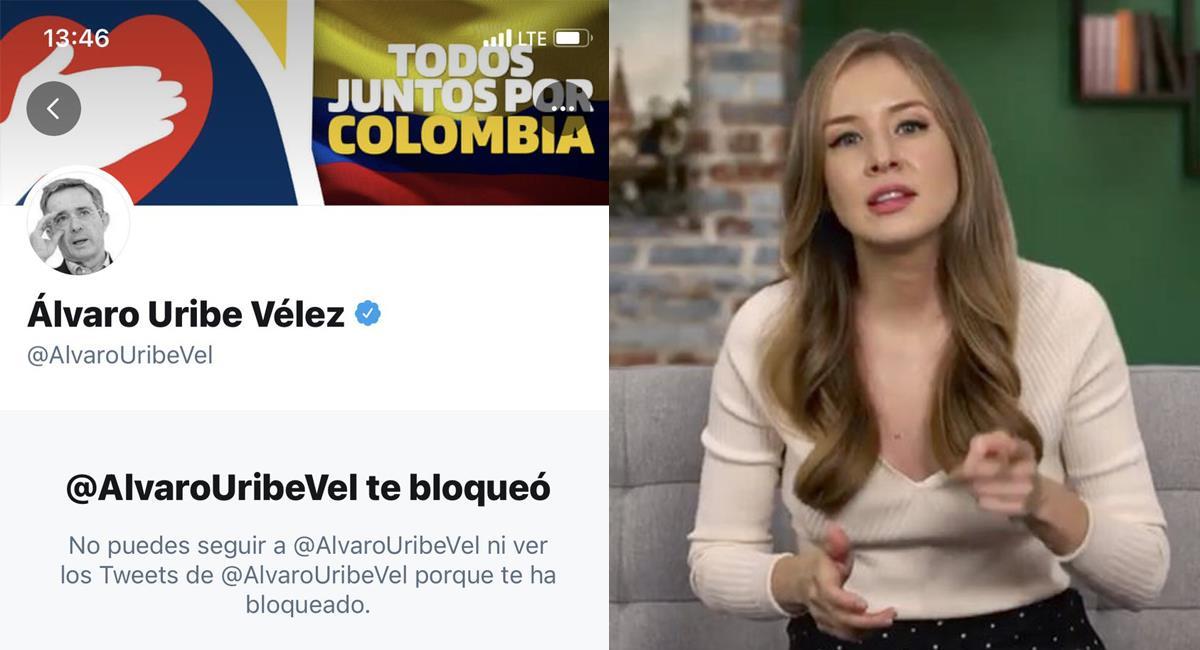 Inna Afinogenova es una periodista rusa que cuenta con muchos seguidores colombianos en las redes sociales. Foto: Twitter @inafinogenova / @c_allendebravo