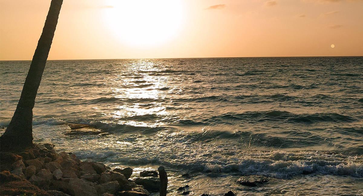 La belleza de sus aguas cristalinas y la soledad, es uno de los atractivos de Isla Mucura. Foto: Twitter @NattiPsb