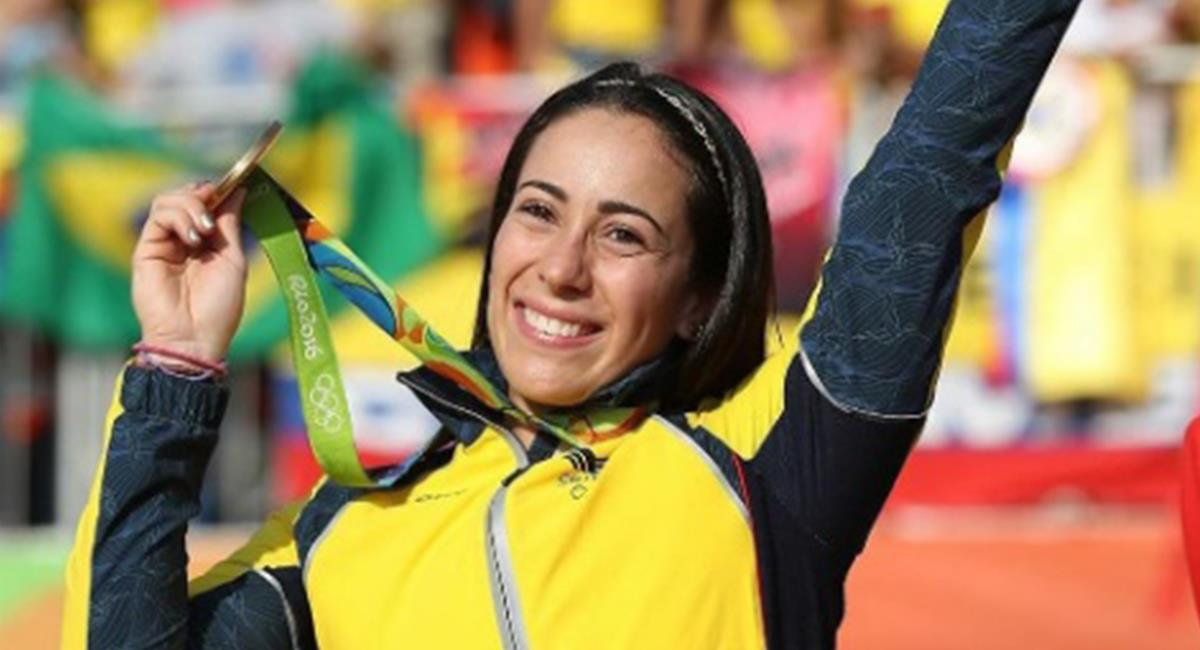 Mariana Pajón medalla de plata en Tokio 2021. Foto: Instagram Mariana Pajón