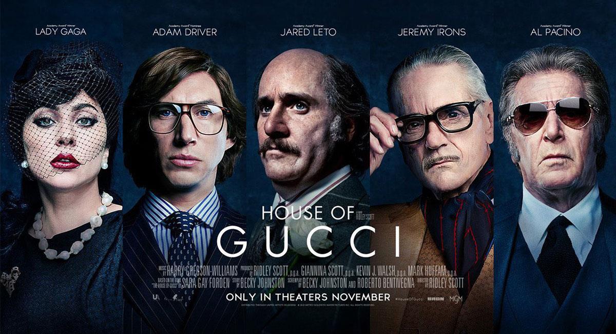 """""""House of Gucci"""" cuenta con un reparto de lujo. Foto: Twitter @altapeli ·"""