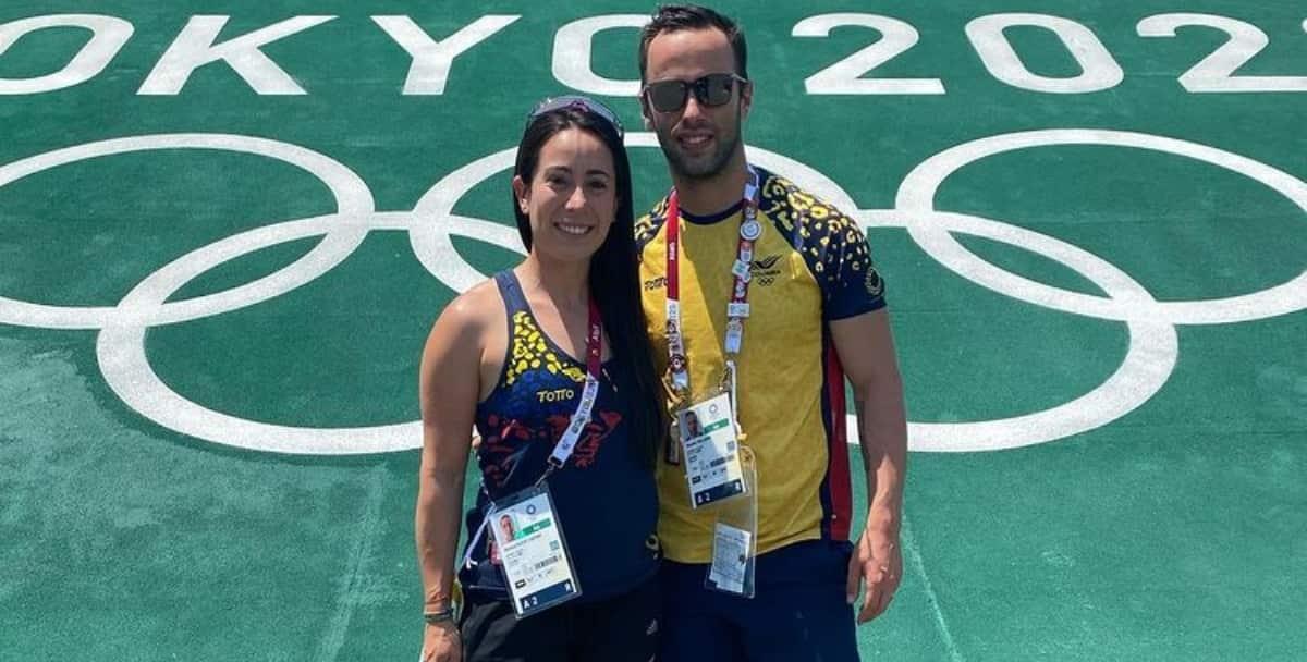 Mariana Pajón y Vincent Pelluard. Foto: Instagram @vincentpelluard