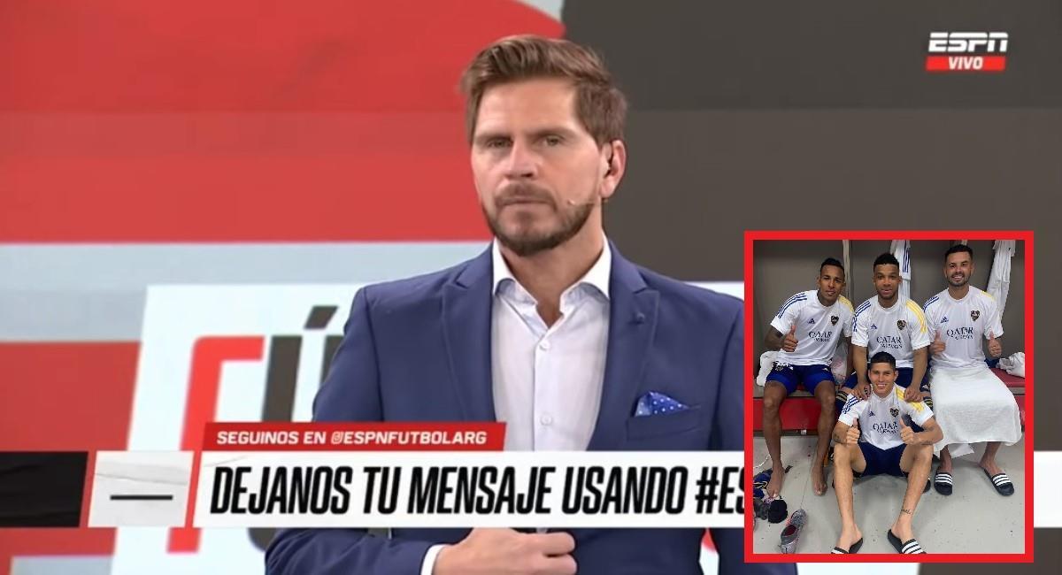 Periodistas argentinos le dan con todo a los colombianos de Boca. Foto: Youtube captura pantalla ESPN.