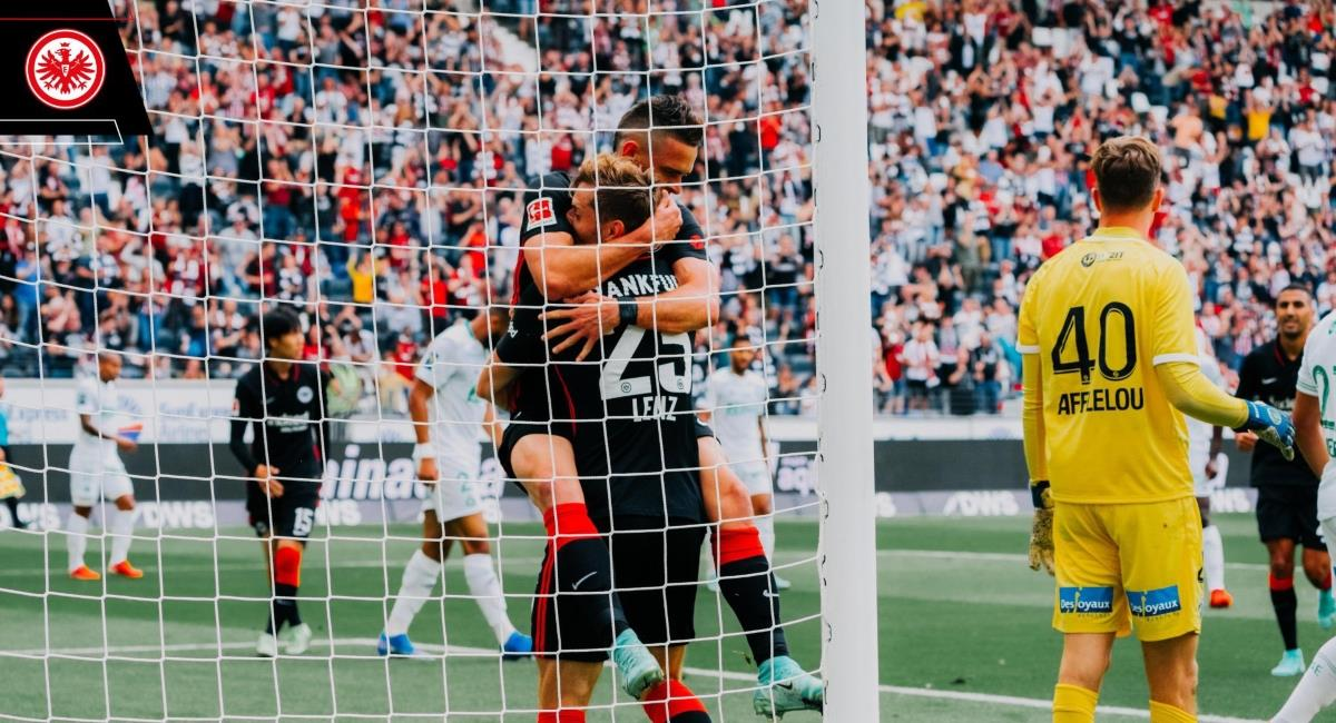 Debut de Rafael Santos Borre en el Eintracht Frankfurt . Foto: Twitter @eintracht_esp