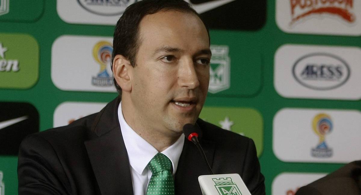 Juan Carlos de la Cuesta habló del caso con Cortuluá. Foto: Twitter Prensa redes Atlético Nacional.