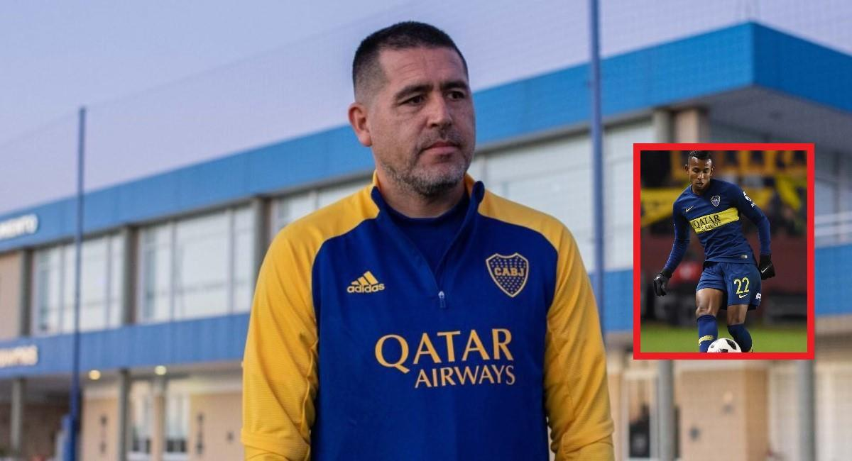 Riquelme molesto por el tema Sebastián Villa. Foto: Twitter Prensa redes Boca Juniors.
