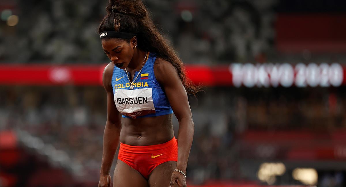 Caterine Ibargüen termina en el puesto 10 en las semifinales de atletismo Tokio 2020. Foto: EFE