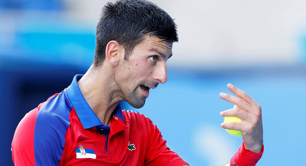 Novak Djokovic en Juegos Olímpicos de Tokio 2020. Foto: EFE
