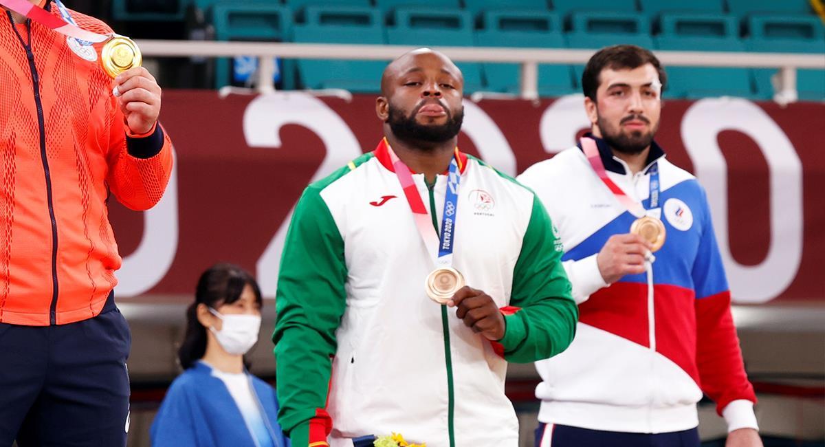 Jorge Fonseca medallista por Portugal en Judo Tokio 2020. Foto: EFE