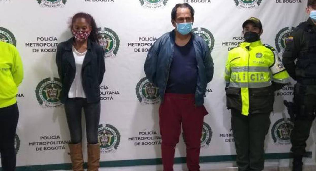 Carolina Galván, madre de Sara Sofía y su compañero sentimental fueron recapturados. Foto: Twitter @ViaPublicaCol