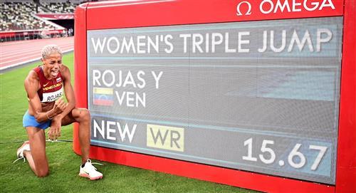 Yulimar Rojas consigue record mundial en el salto triple