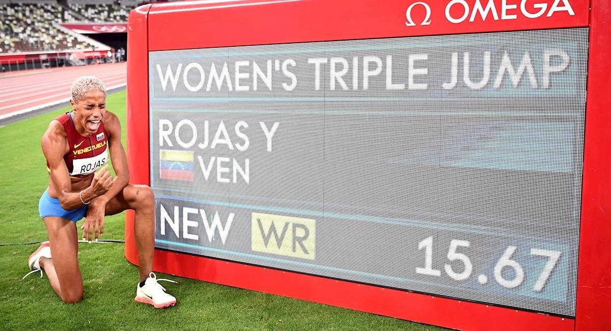 Yulimar Rojas record mundial Tokio 2020. Foto: EFE