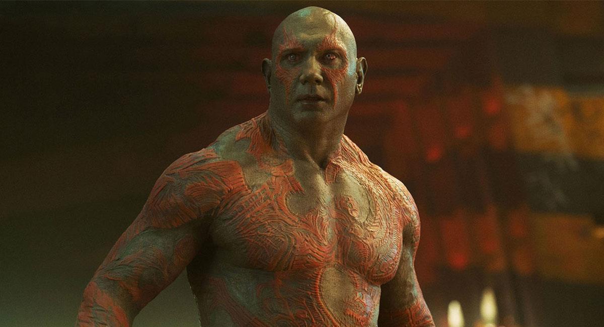 Dave Bautista ha interpretado a Drax en cuatro películas de Marvel Studios. Foto: Twitter @Guardians