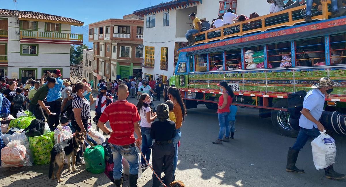 Se espera que las personas puedan retornar tras 11 días de haberse alejado de sus hogares. Foto: Twitter @SusanaBoreal.