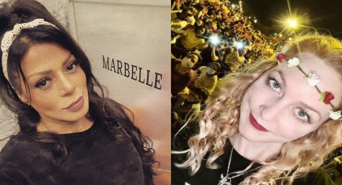 Marbelle y joven alemana de 'la primera línea' durante el paro nacional. Foto: Instagram