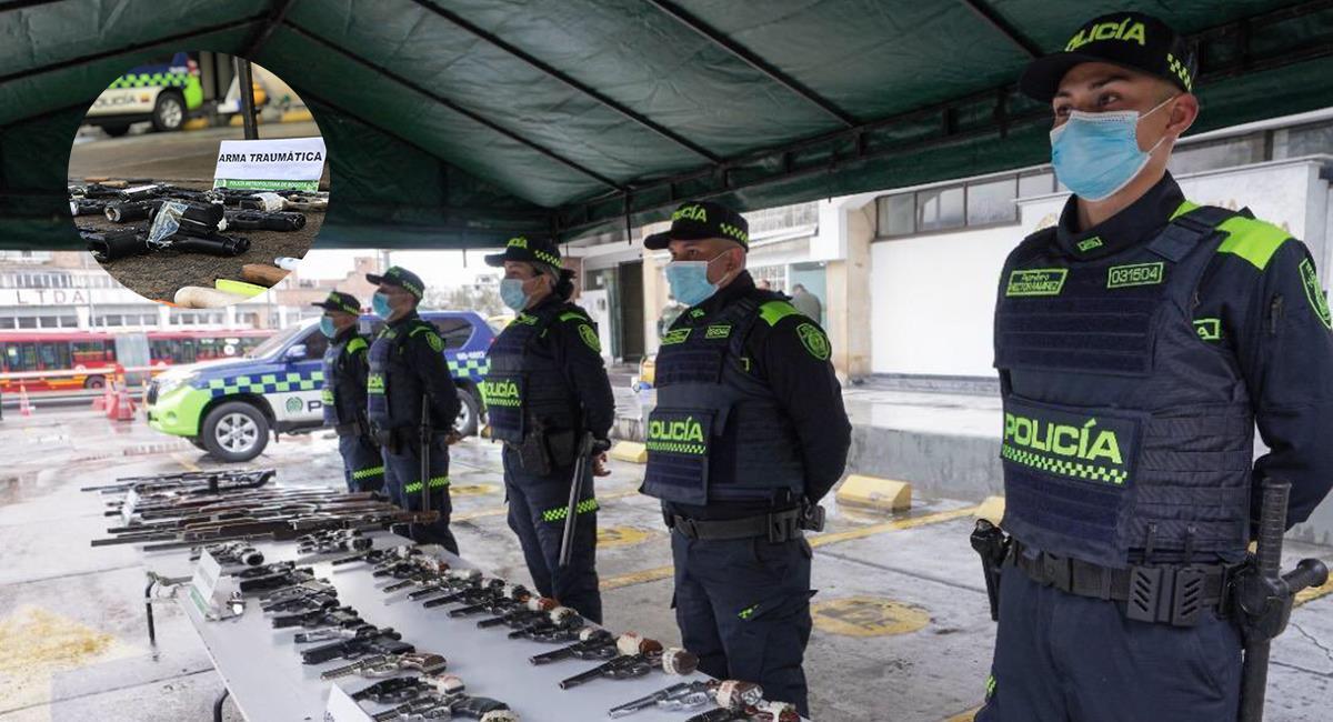 Ya está listo el decreto para regular el porte y uso de armas traumáticas. Foto: Twitter @SeguridadBOG - @PoliciaBogota