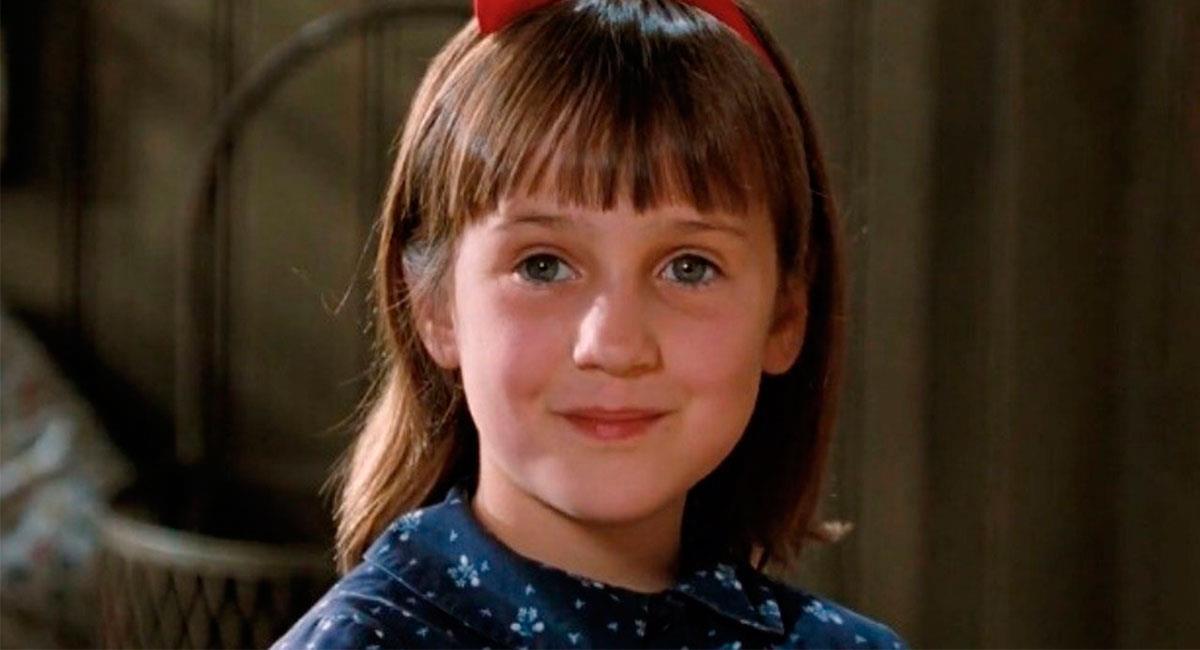"""Mara Wilson es muy recordada por protagonizar """"Matilda"""". Foto: Twitter @SensaCineMx"""