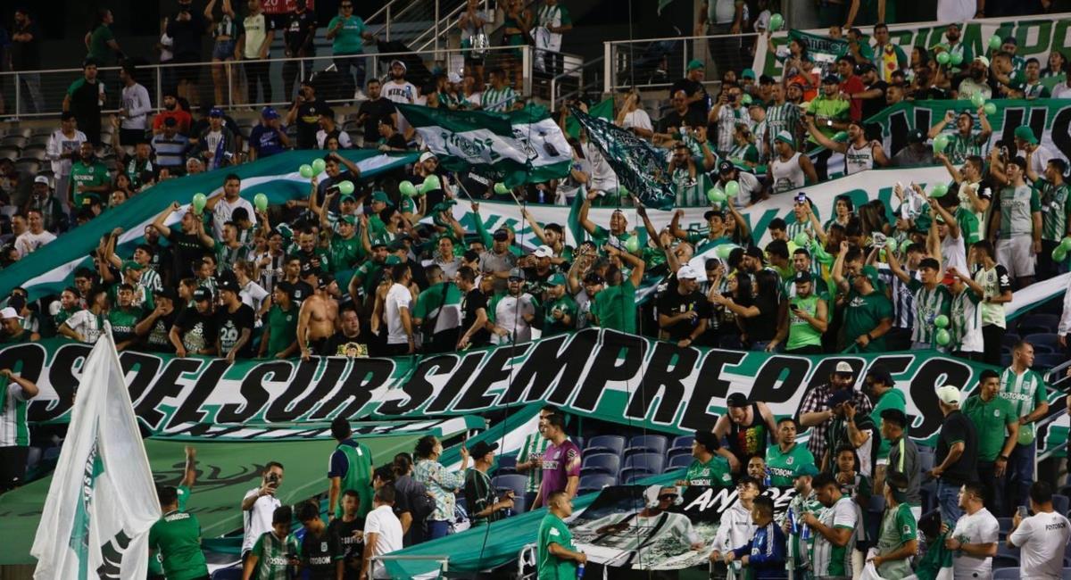 Barra de Nacional no podrá entrar al Campín durante un año. Foto: Twitter Prensa redes Florida Cup.