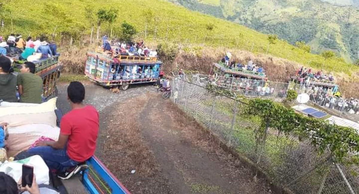 ¿Quién estaría detrás del desplazamiento forzado?. Foto: Twitter @soydeituango.