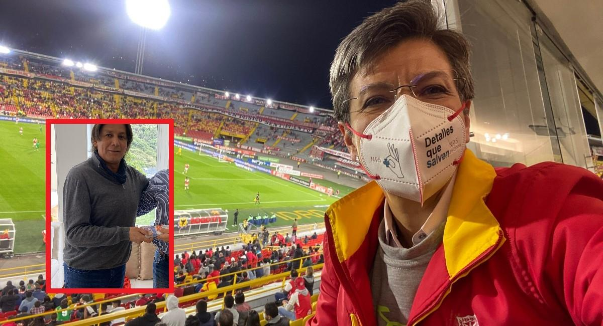 Pimentel le dio con todo a la Alcaldesa Claudia López. Foto: Twitter Prensa redes Claudia López.