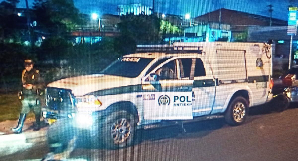 Policía incauta explosivos en barrio Palermo en Bogotá. Foto: Twitter @BallesterosLeo.