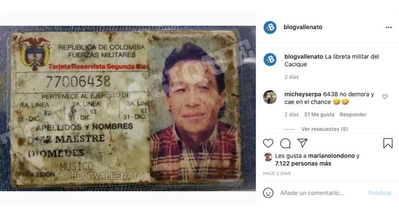 Captura de pantalla. Foto: Instagram @blogvallenato.