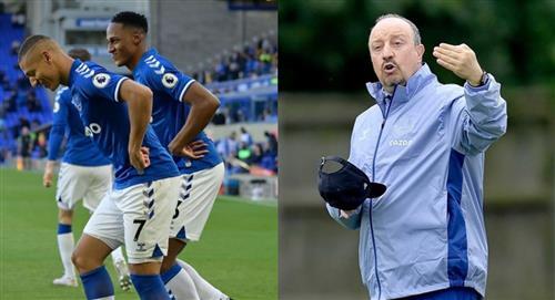 Sin James Rodríguez y con Yerry Mina en los últimos minutos, Everton vence al Southampton