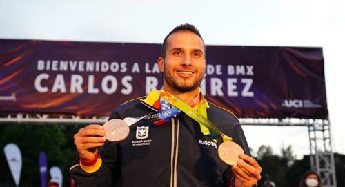 Gran homenaje medallista Carlos Ramírez en Bogotá