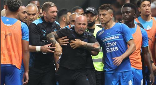 Jorge Sampaoli técnico del Marsella a los golpes contra hinchas del Niza